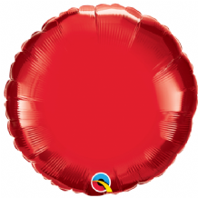 "Red Round Foil Balloon (18"") 1pc"
